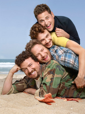 Danny McBride, Seth Rogen, James Franco and Jonah colina - Rolling Stone Photoshoot - 2013