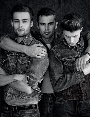 George MacKay, Theo James and Douglas Booth - GQ Style Photoshoot - 2014