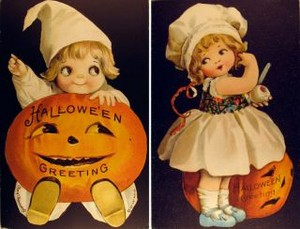 Vintage Halloween Clipart (children)
