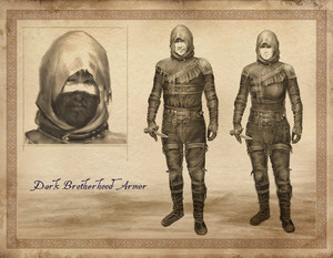 Oblivion Concept Art - Dark Brotherhood Armor