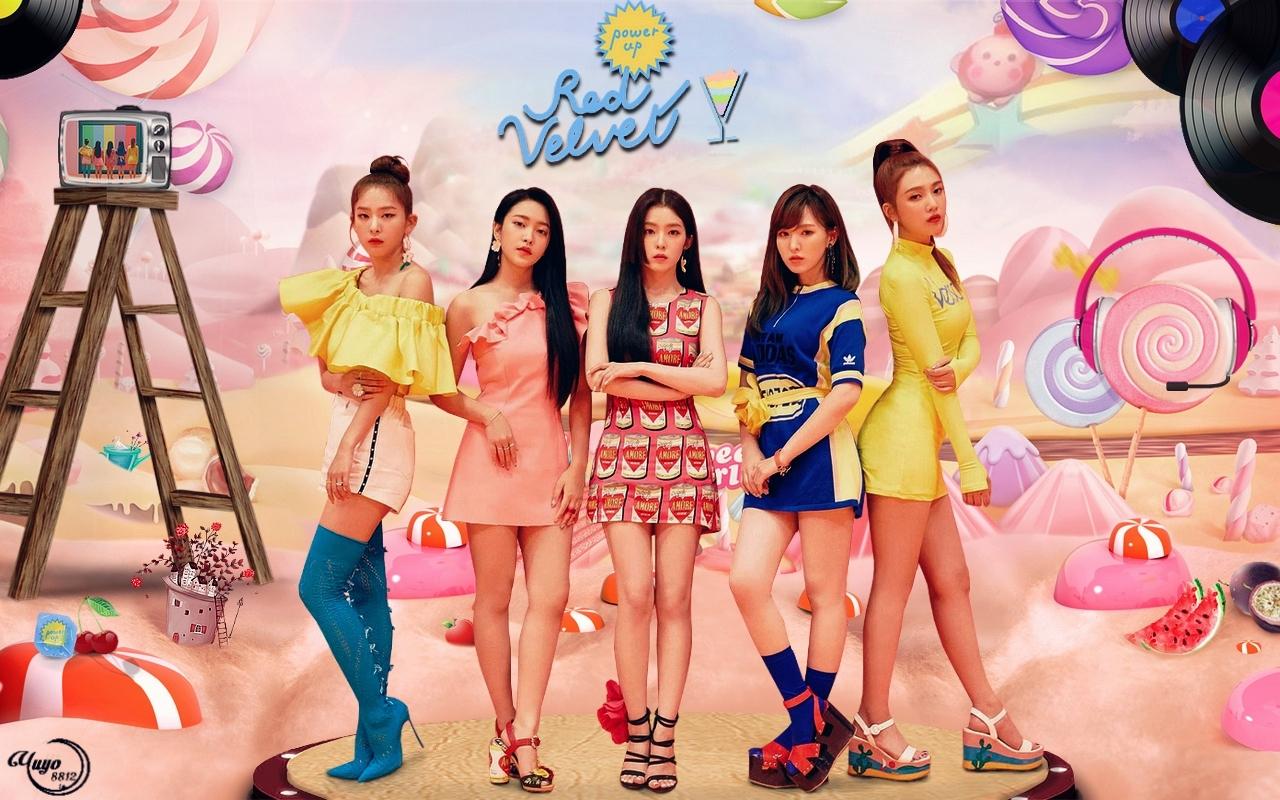 Red Velvet 2 Power Up Wallpaper Red Velvet Wallpaper 41560143 Fanpop