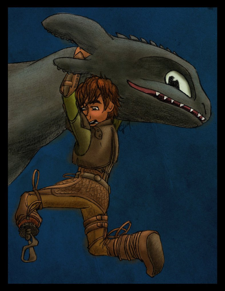 scene from httyd2  hiccup toothless playfight by inhonoredglory d6fchif