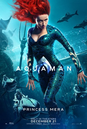 Aquaman (2018) Character Poster - Amber Heard as Mera
