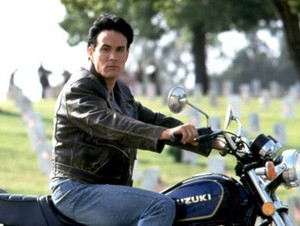 Brandon Lee and a Motorcycle