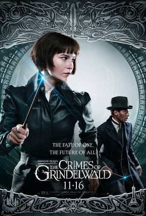 Fantastic Beasts: The Crimes of Grindelwald (2018) Poster - Tina and Yusuf