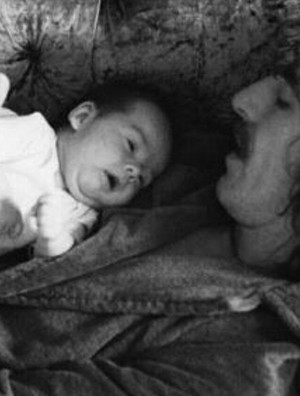 George and baby Dhani 💖