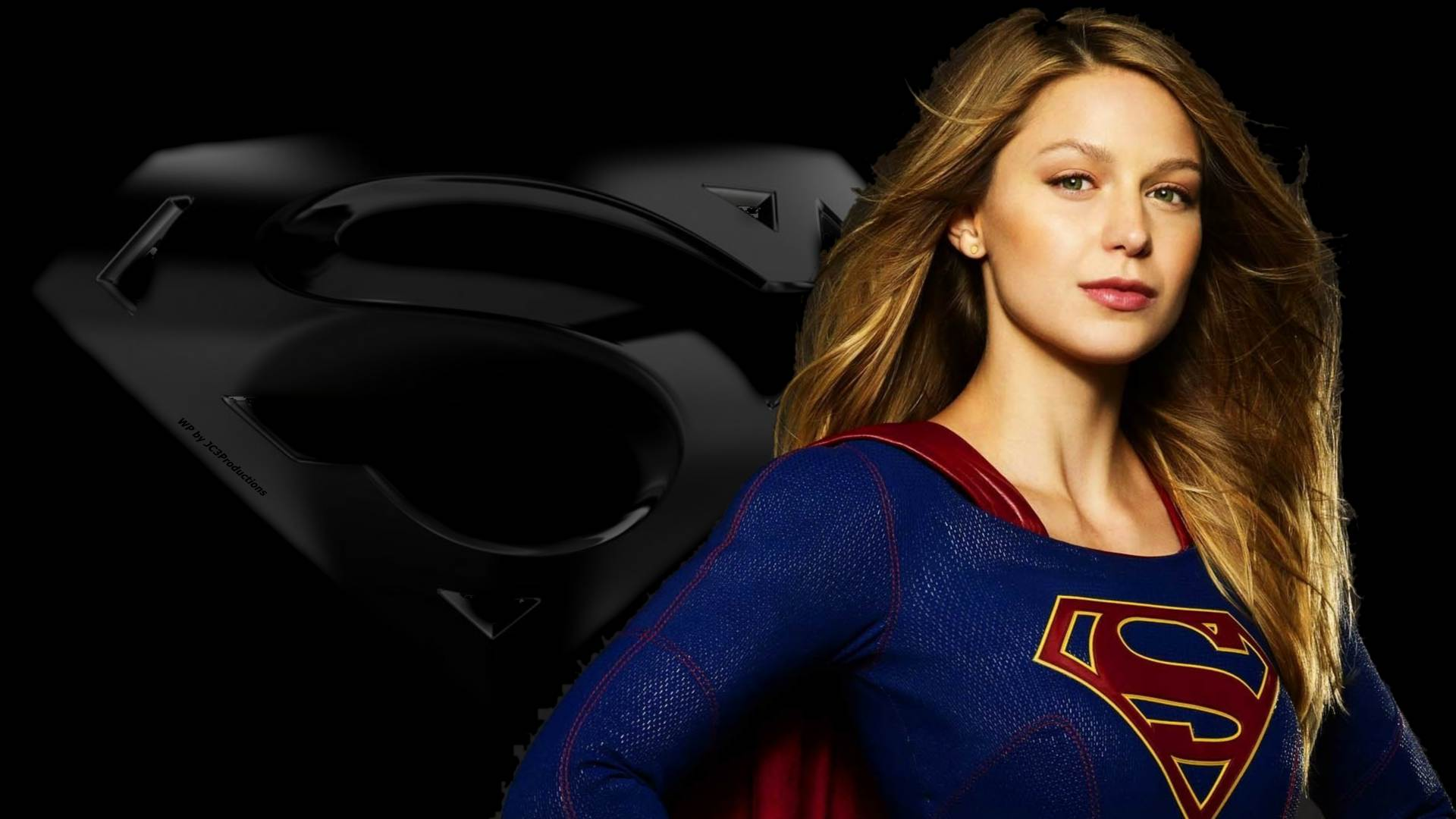 supergirl and icon Wallpaper