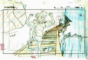 Animation layouts from 'Spirited Away'
