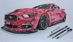 Ford mustang gt Drawing