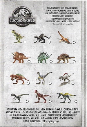 Jurassic World mini dinosauri