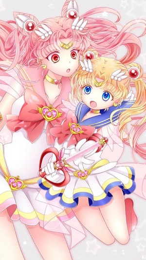 Sailor Moon and Chibiusa