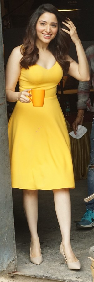 Tamannaah Bhatia in yellow dress