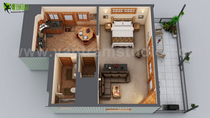 Best House Floor Plan diseño Ideas por 3d interior rendering services Rome, Italy.