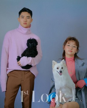 1st Look magazine with their pet dogs