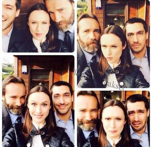 Alona Kral with her costars