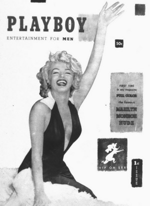 Marilyn. On The 1953 Issue Of Playboy