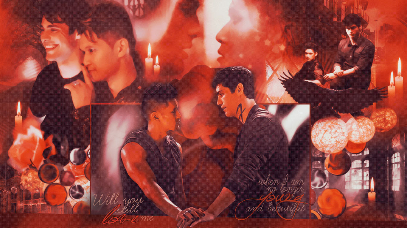 Alec/Magnus Wallpaper - Young And Beautiful