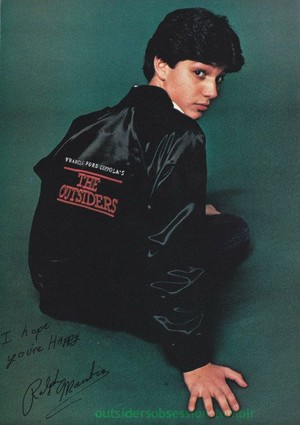 Ralph Macchio in 'The Outsiders' jaket
