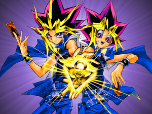 Yugi and Yami Wallpaper b