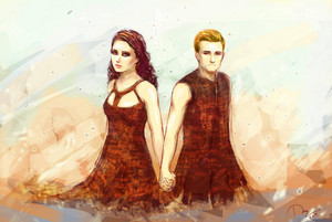 Katniss/Peeta Fanart - Catching 火, 消防