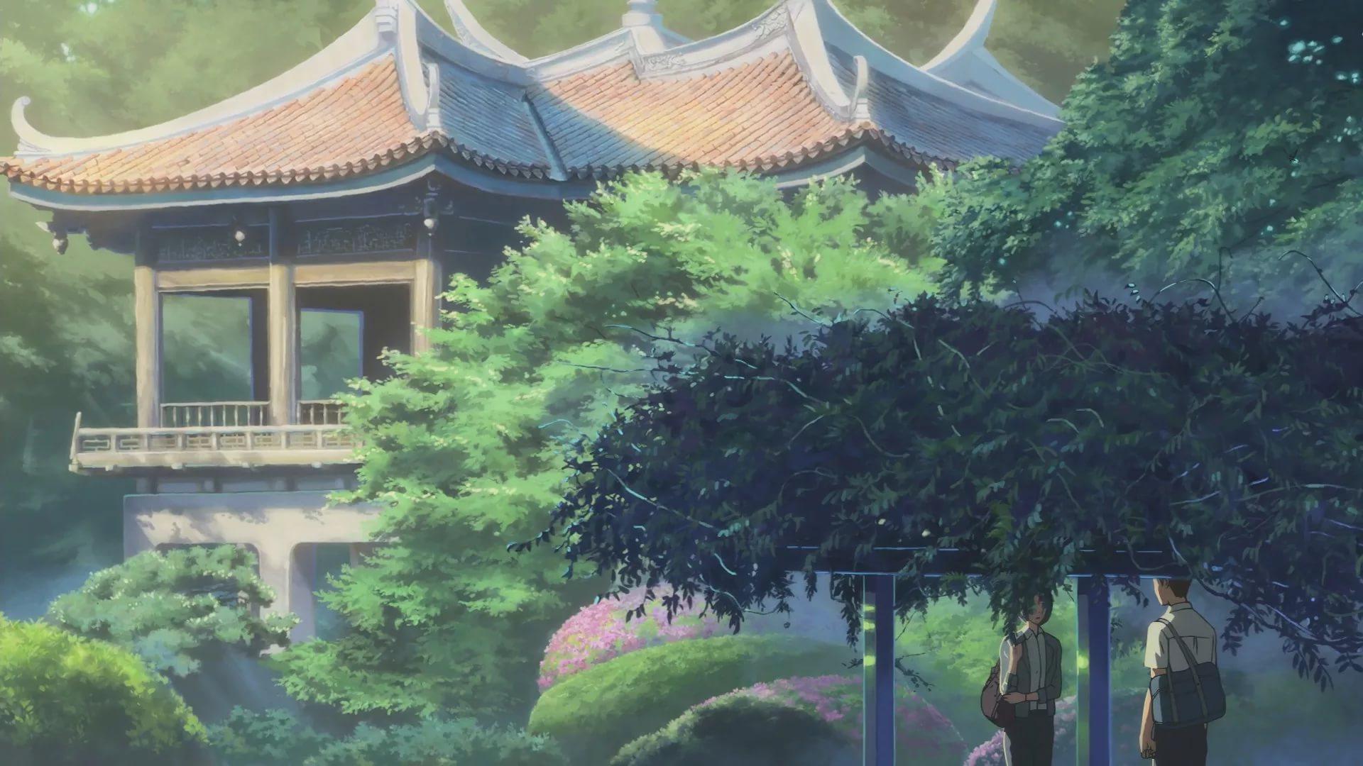 The Garden Of Words Makoto Shinkai Hintergrund 42699935 Fanpop