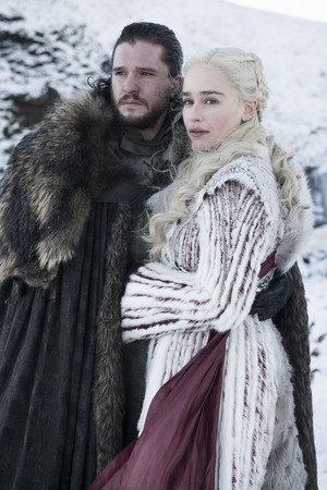 8x01 ~ Winterfell ~ Aegon and Daenerys