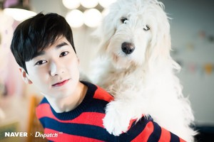 Aron photoshoot with 狗