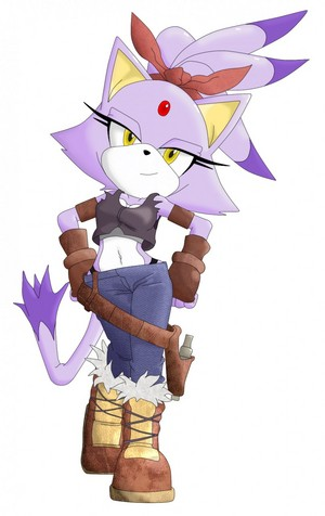 Blaze the cat as Perci