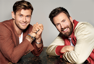 Chris Evans and Chris Hemsworth behind the scenes for People magazine (May 2019)