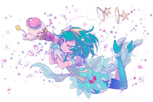 Cure Milky and Fuwa