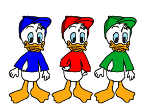 Huey Dewey and Louie itik