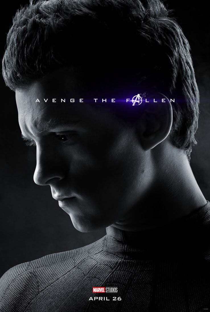 Image result for marvel character poster endgame peter parker