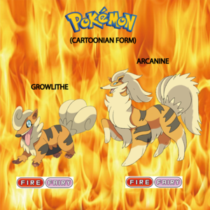 Pokemon (8 Generation) Growlithe & Arcanine