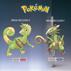 Pokemon (8 Generation) Mega Kecleon X & Mega Kecleon Y