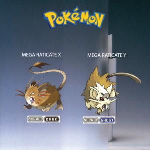Pokemon (8 Generation) Mega Raticate X & Mega Raticate Y