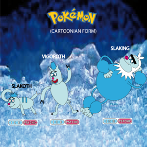 Pokemon (8 Generation) Slakoth, Vigoroth & Slaking