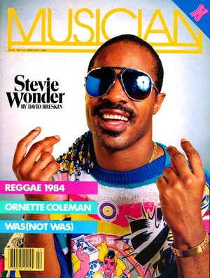 Stevie Wonder On The Cover Of Musian Magazine