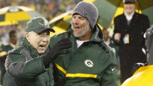 Bart Starr and Brett Favre