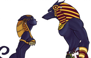 Bastet and Anubis