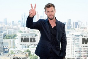 Chris Hemsworth in Moscow  MIB International photocall