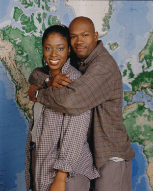 "Leonard ""Lenny"" Hudson and Karyn Jefferson (The Amazing Race 1)"