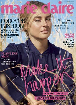 Shailene Woodley - Marie Claire UK Cover - 2017