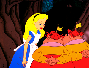 Walt Disney Screencaps - Alice, Tweedle Dee & Tweedle Dum