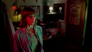 Caroline Williams in The Texas Chainsaw Massacre 2
