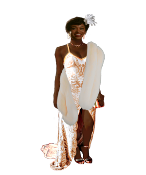 Coco Jones as Tiana (White Fantasy Dress)
