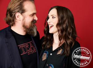 Entertainment Weekly's Stranger Things Portraits - 2019 - David Harbour and Winona Ryder