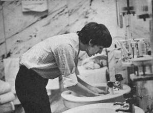 George washing up 😊