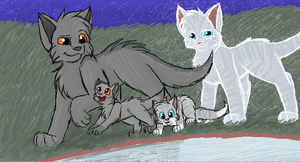 Graystripe, Silverstream and Their Kits