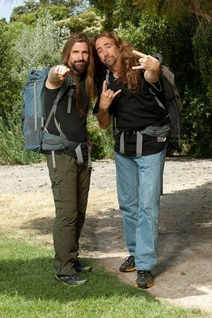 "James LoMenzo and Mark ""Abba"" Abbattista (The Amazing Race 21)"