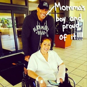 The Rock/mom in wheelchair